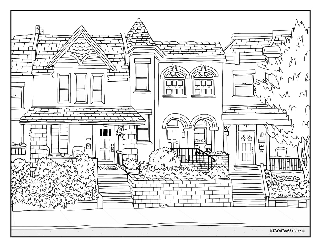 Richmond Coloring Book Page - SKETCHES OF PLACES THAT MAKE RVA A ...